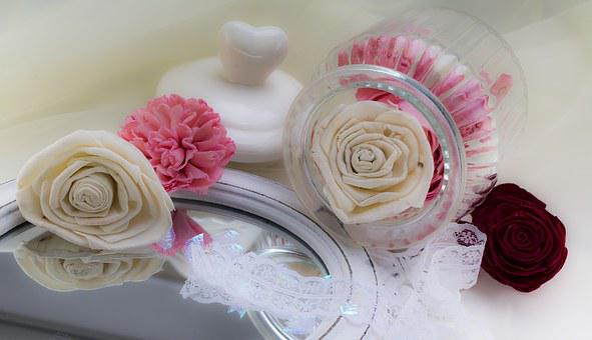 Vintage, Roses, Pink, Purple, Bordeaux, Mirror, Wood
