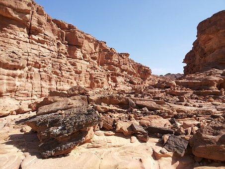 Colored Canyon, Sinai, Egypt, Dahab, Desert, Canyon
