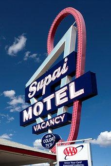 Motel, Shield, Advertising Sign, Carol M Highsmith