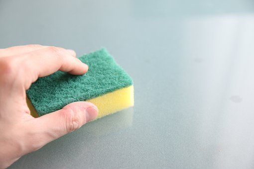 Cleaning, Washing, Cleanup, Sponge, Washcloth, The Hand