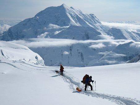 Mt Foraker, Expedition, Alaska, Denali, Mountain, Snow