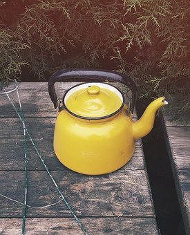 Kettle, Dining Table, Tea, Brew, Village, The Rural