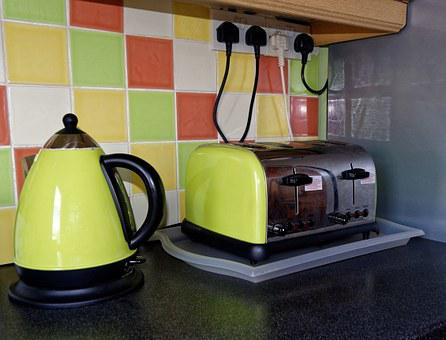 Kitchen, Toaster, Kettle, Home, Cooking, Food