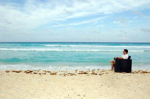 Beach, Sea, Sky, Beach Sand, Wave, Sunset, Horizon
