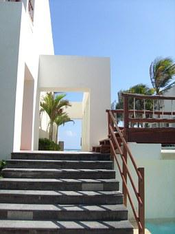 Stairs, Hotel, Holiday, Architecture, Shadows, Daytime