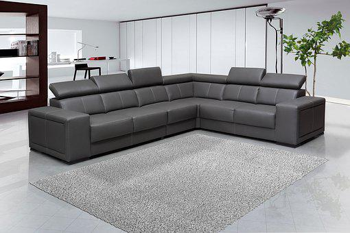 Sofa, Interior Design, Leaving Room, Furniture, Gray