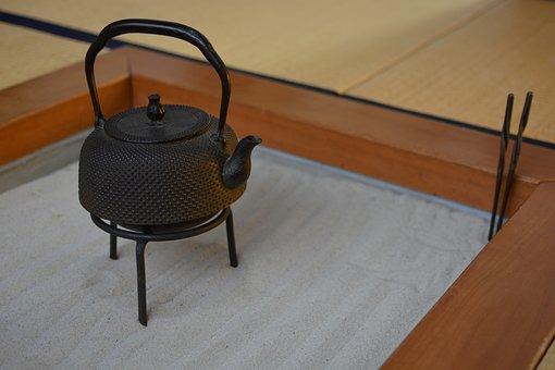 Japan, Iron, Iron Kettle, Bottle, Pot, Hearth
