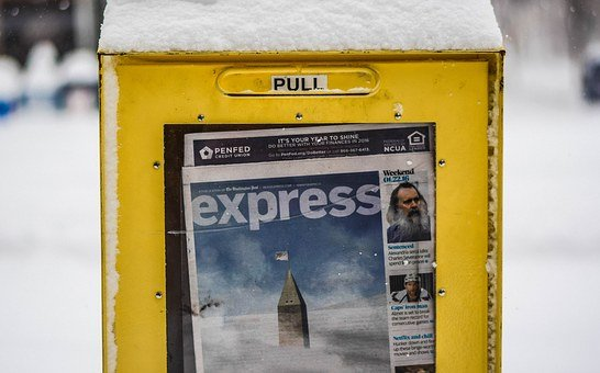 Snowzilla, January 2016, Snow Storm, Kiosk, Newspapers