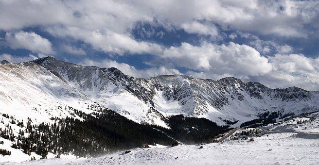Colorado, Loveland Pass, Snow, Loveland, Landscape