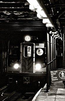 Train, Metro, Railway, Metro Station, Transport, People