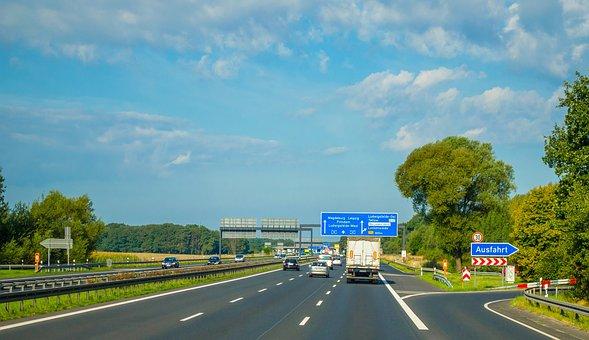 Road, Track, Motorway, Europe, Poland, Traffic