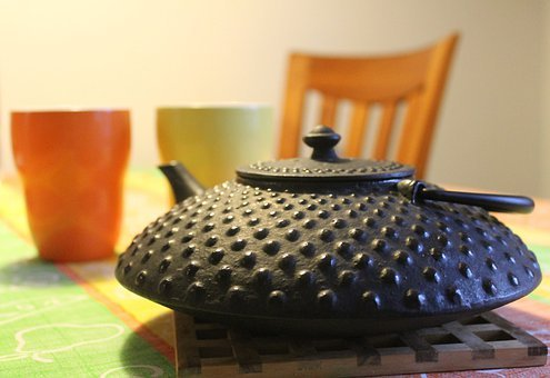 Teapot, Tea, Mugs, Pot, Cast Iron, Cup, Drink, Beverage