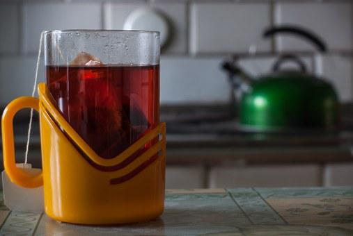 Tee, Cup, Boiler, Tiled Stove, Nostalige, Kitchen