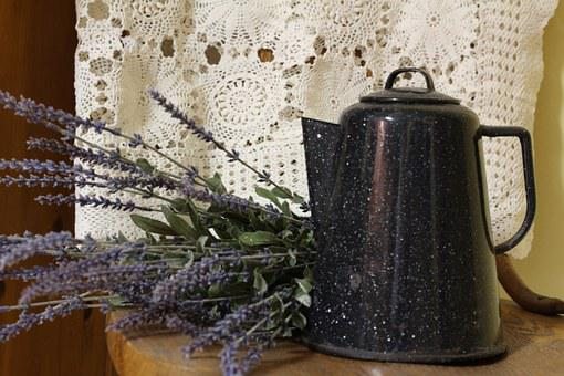 Lace, Decor, Kettle, Vintage, Ornament, Old, Floral