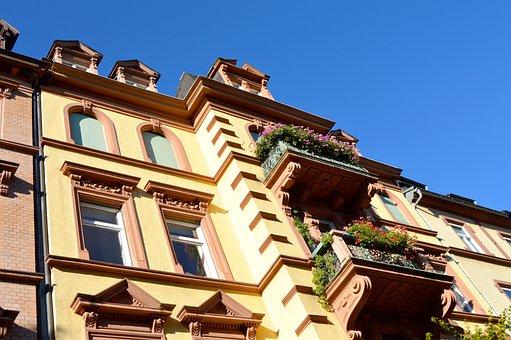 Balconies, Planting, Heidelberg, Live, Art Nouveau