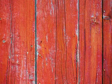Red, Wood, Wooden, Plank, Barn, Rustic, Red Background