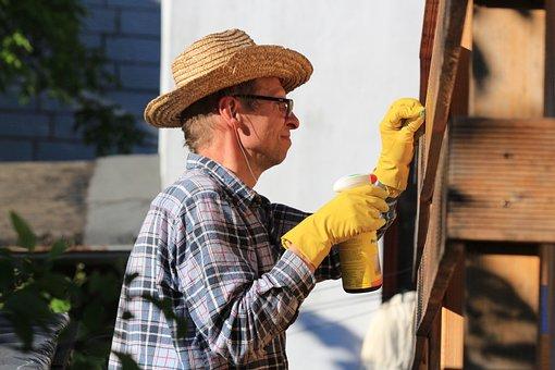 Dad, Repair, Work, Cleanup