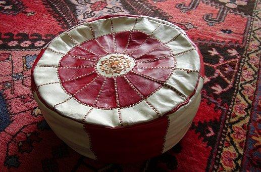 Oriental, Pouf, Ottoman, Rug, Arabic, Floor, Hassock