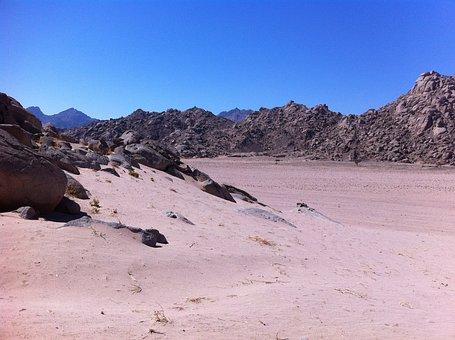 Desert, Sand, Egypt, Sharm El Shiek, Sky, Mountains