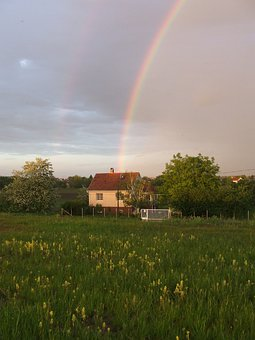 Rainbow, Sheer, Hortobágy, Tanya, House, May