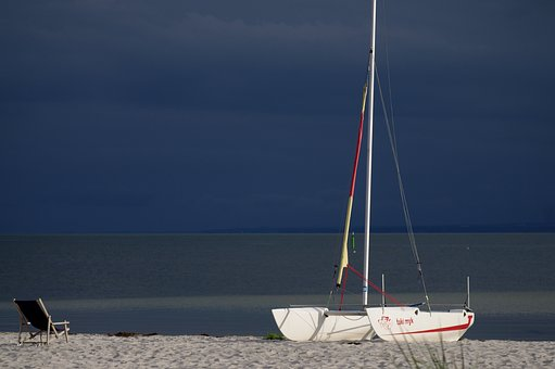 Free, Sea, Cove, Sails, Holiday, Landscape, Beach, Ship