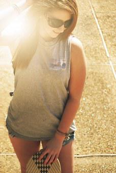 Girl, Skateboard, Young, Lifestyle, Female, Skate