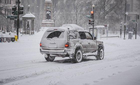 Snowzilla, January 2016, Snow Storm, Car, City, Snow