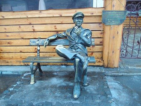 Ostap Bender, Monument, Statue, Bronze, Bench