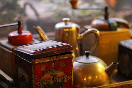 Antique, Collection, Vintage, Style, Retro, Can, Teapot