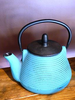Kettle, Teapot, Cast Iron, Iron, Brew Tea, Tea, Tearoom