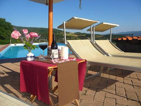 Pool, Sunbeds, Cottages-vacation Rentals, Tuscany