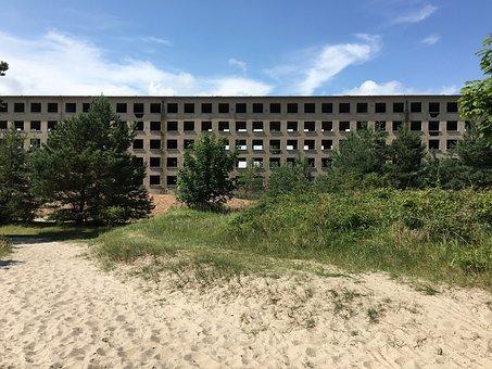 Prora, Ruin, View, Rügen, Left, Building, Beach, Resort