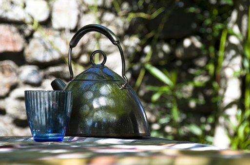 Teapot, Water Boiler, Metal, Stainless Steel, Terrace