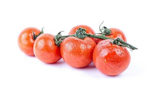 Tomato, Fresh, White, Wet, Water, Diet, Background