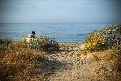 Loneliness, Menopause, Women, Single, Sea, Bank, Sky