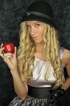 Eve, Sin, Apple, Temptation, Tempted, Blond Girl, Blond