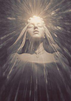 Book Cover, Holy, Spiritual, Light, Maria, Woman