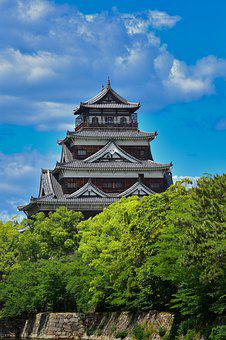 Japan, Hiroshima, Castle, Building, Samurai