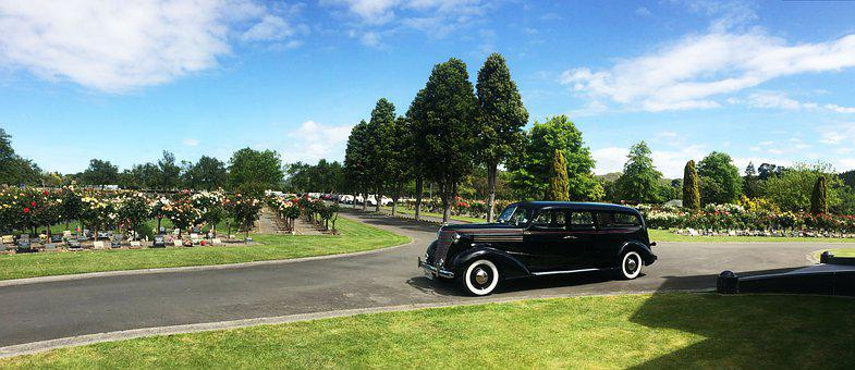 Cemetery, Vintage Hearse, Funeral, Whanganui, Chevrolet