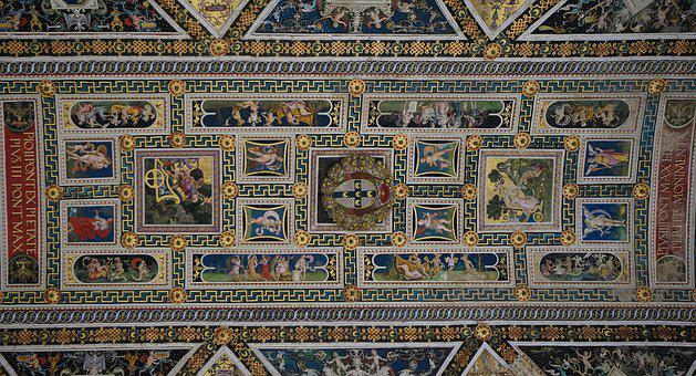 Siena, Church, Ceiling, Italy, Tuscany, Architecture