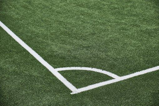 Football, Field, Corner, Eckpunkt, Playing Field