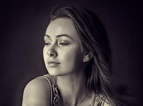 Girl, Portrait, Beauty, Woman, People, Hair