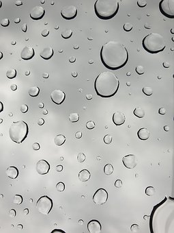 Raindrops, Drops, Glass, Clouds, Water, Rain, Wet