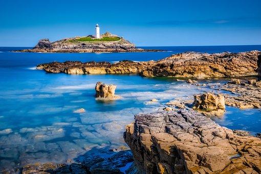 Godrevy Lighthouse, Godrevy Island, St Ives Bay