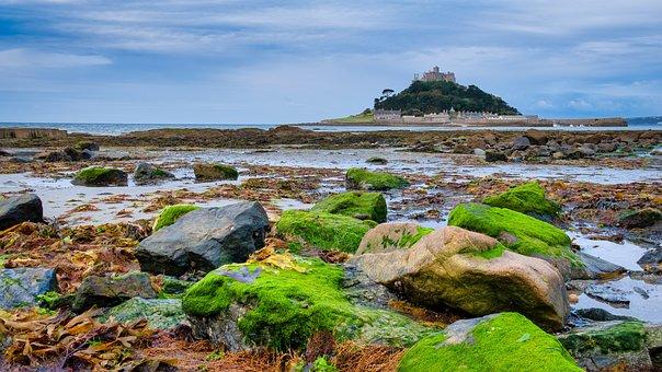 St Michael's Mount, Cornwall, Coastline, Historic