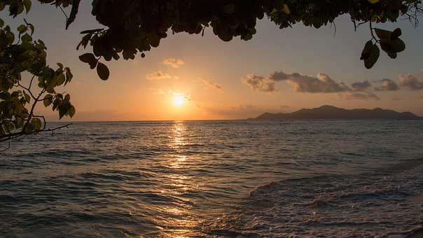 Seychelles, La Digue, Sunset, An Island, Holiday