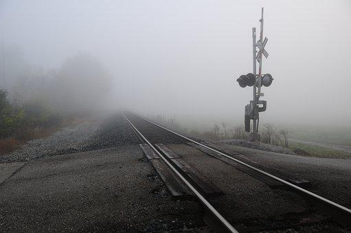 Miamisburg Ohio, Miamisburg, Railroad, Foggy Morning