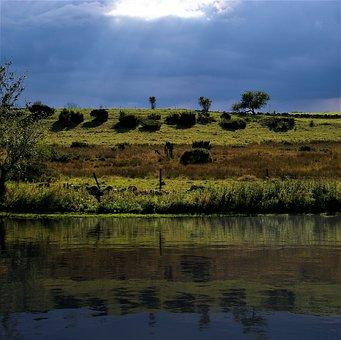 Landscape, Sky, Reflection, Nature, Scenic, Clouds