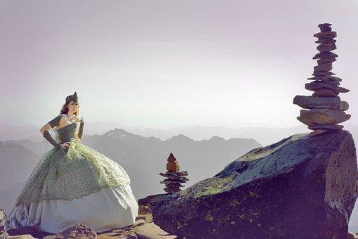 Princess, Mountain, Mount Rainier Ball Gown Hike