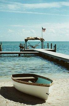 Boat, Beach, Wharf, Sand, Sky, Relaxing